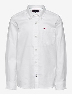 BACK DETAIL STRETCH OXFORD SHIRT - shirts - white