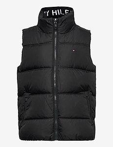 SOLID VEST - vests - black