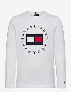 HERITAGE LOGO TEE L/ - long-sleeved t-shirts - white
