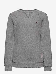 MINI WAFFLE CN TEE L/S - sweatshirts - mid grey htr