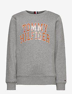 HILFIGER ARTWORK SWE - sweatshirts - mid grey htr