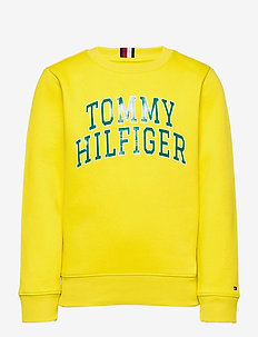 HILFIGER ARTWORK SWE - sweatshirts - valley yellow