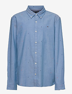 AOP OXFORD SHIRT L/S - shirts - blue allover