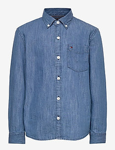 DENIM SHIRT L/S - shirts - denim medium