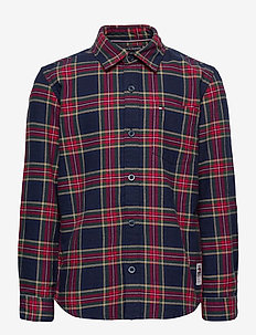 OXFORD  CHECK SHIRT L/S - shirts - blue check/deep crimson