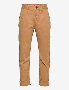 MODERN STRAIGHT PANTS - trousers - classic khaki