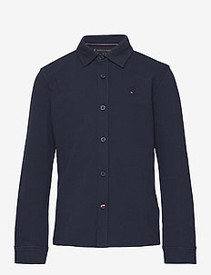 STRETCH PIQUE SHIRT L/S - twilight navy