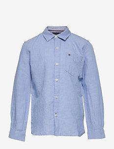 ESSENTIAL COTTON LINEN SHIRT L/S - overhemden - light blue
