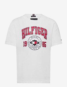 HILFIGER ARTWORK TEE S/S - short-sleeved - white