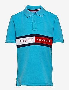 HILFIGER FLAG POLO S/S - polo shirts - seashore blue