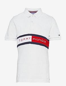 HILFIGER FLAG POLO S/S - polo shirts - white
