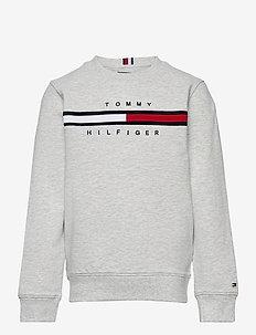FLAG RIB INSERT SWEATSHIRT - sweatshirts & hoodies - light grey heather