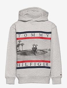 COLORBLOCK PHOTOPRINT HOODIE - sweatshirts & hoodies - light grey heather