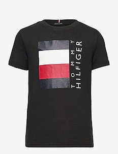 GLOBAL STRIPE TEE S/S 2 - short-sleeved - black