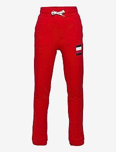 GLOBAL STRIPE SWEATPANTS - sweatpants - deep crimson
