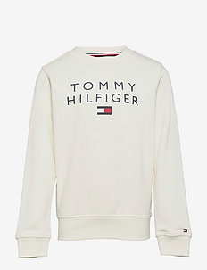 TOMMY FLAG CREWNECK - sweatshirts - ivory