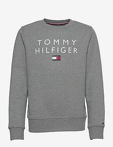 TOMMY FLAG CREWNECK - sweatshirts - medium grey heather