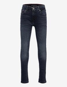 SIMON SKINNY BLUE BLACK - jeans - blueblkwshddwn