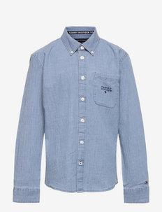 CHAMBRAY SHIRT L/S - shirts - chambray blue