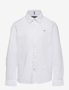 BOYS STRETCH OXFORD SHIRT L/S - shirts - white