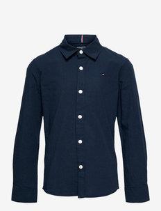 SOLID STRETCH POPLIN SHIRT L/S - shirts - twilight navy