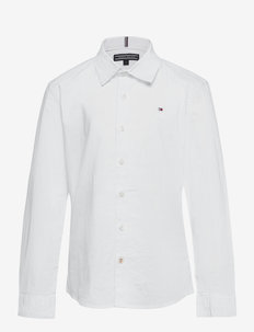 SOLID STRETCH POPLIN SHIRT L/S - shirts - white
