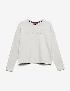 HILFIGER SWEATER - long-sleeved t-shirts - light grey htr