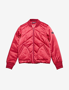 ESSENTIAL QUILTED PA - bomberjacken - raspberry wine
