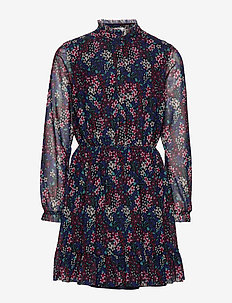 FLORAL ALL OVER PRIN - dresses - black iris/ multi