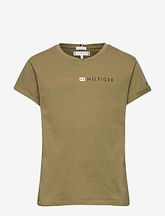 ESSENTIAL TOMMY ROLL UP TEE S/S - MARTINI OLIVE