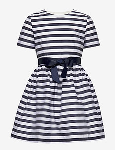NAUTICAL STRIPE DRESS - kleider - white stripe 01