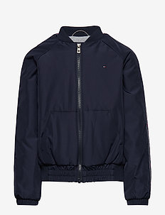 ESSENTIAL TOMMY TAPE JACKET - BLACK IRIS