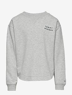 TOMMY TAPE SWEATSHIRT - sweat-shirt - grey heather