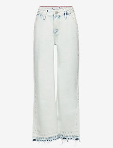 HR WIDE LEG SKWBR - jeans - sky washed blue rigid