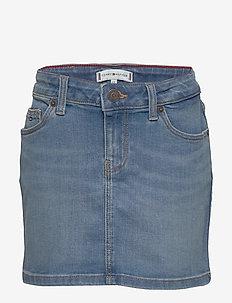 BASIC DENIM SKIRT OCLBST - skirts - ocean light blue stretch
