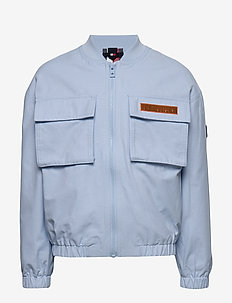 TOMMY UTILITY BOMBER JACKET - CALM BLUE