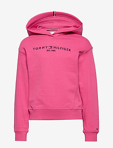 ESSENTIAL HOODED SWE - hoodies - blush red