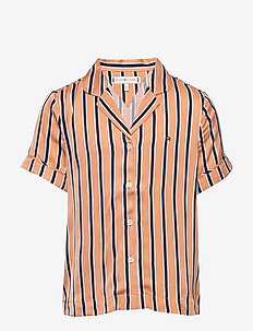RESORT STRIPE SHIRT S/S - shirts - melon orange/ twilight navy