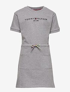 ESSENTIAL DRESS S/S - robes - light grey heather