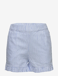 RUFFLE ITHACA STRIPE - shorts - white/ calm blue