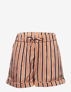 RESORT STRIPE SHORTS - shorts - melon orange/ twilight navy