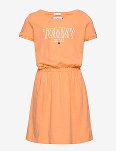 JERSEY TEE DRESS S/S - robes - melon orange