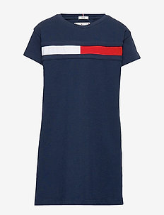 FLAG JERSEY DRESS S/S - robes - twilight navy 654-860
