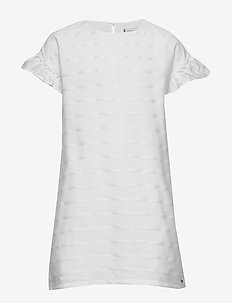 EID SHIFT DRESS S/S - dresses - white