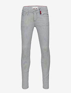 NORA STRIPE PANT - jeans - stripe light stretch