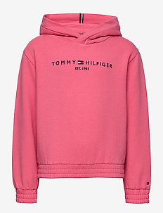 ESSENTIAL HOODED SWEATSHIRT - hoodies - glamour pink
