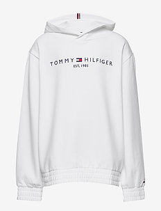 ESSENTIAL HOODED SWEATSHIRT - hoodies - white