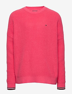 ESSENTIAL TOMMY SWEATER - knitwear - glamour pink