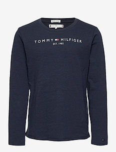 ESSENTIAL TEE L/S - long-sleeved t-shirts - twilight navy