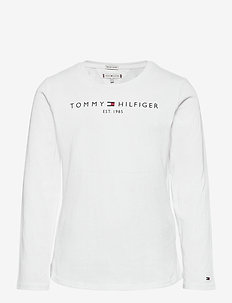 ESSENTIAL TEE L/S - long-sleeved t-shirts - white